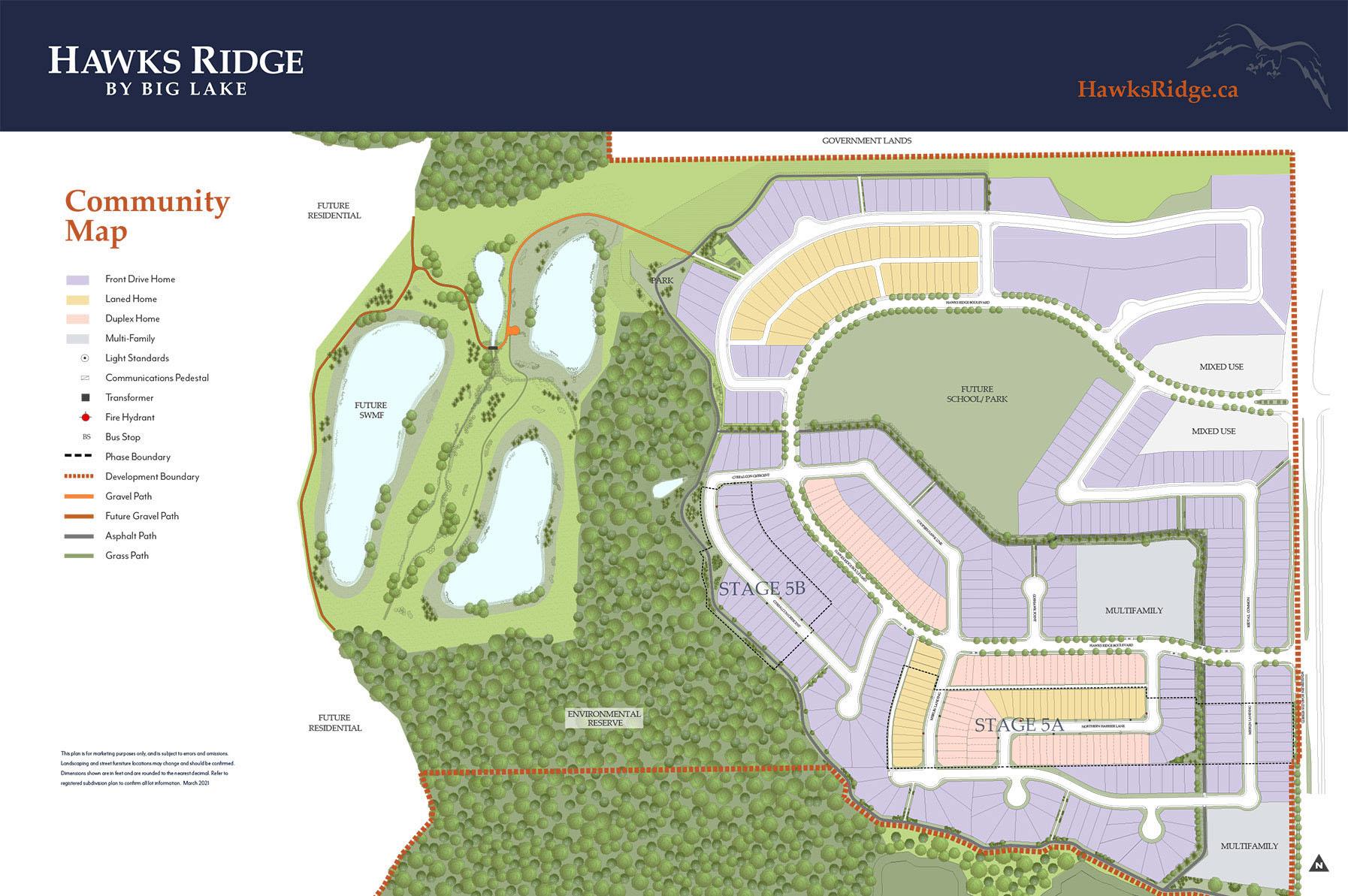 Hawks Ridge Area Map